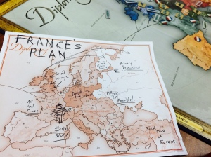 French Battle Plan Diplomacy Board Game