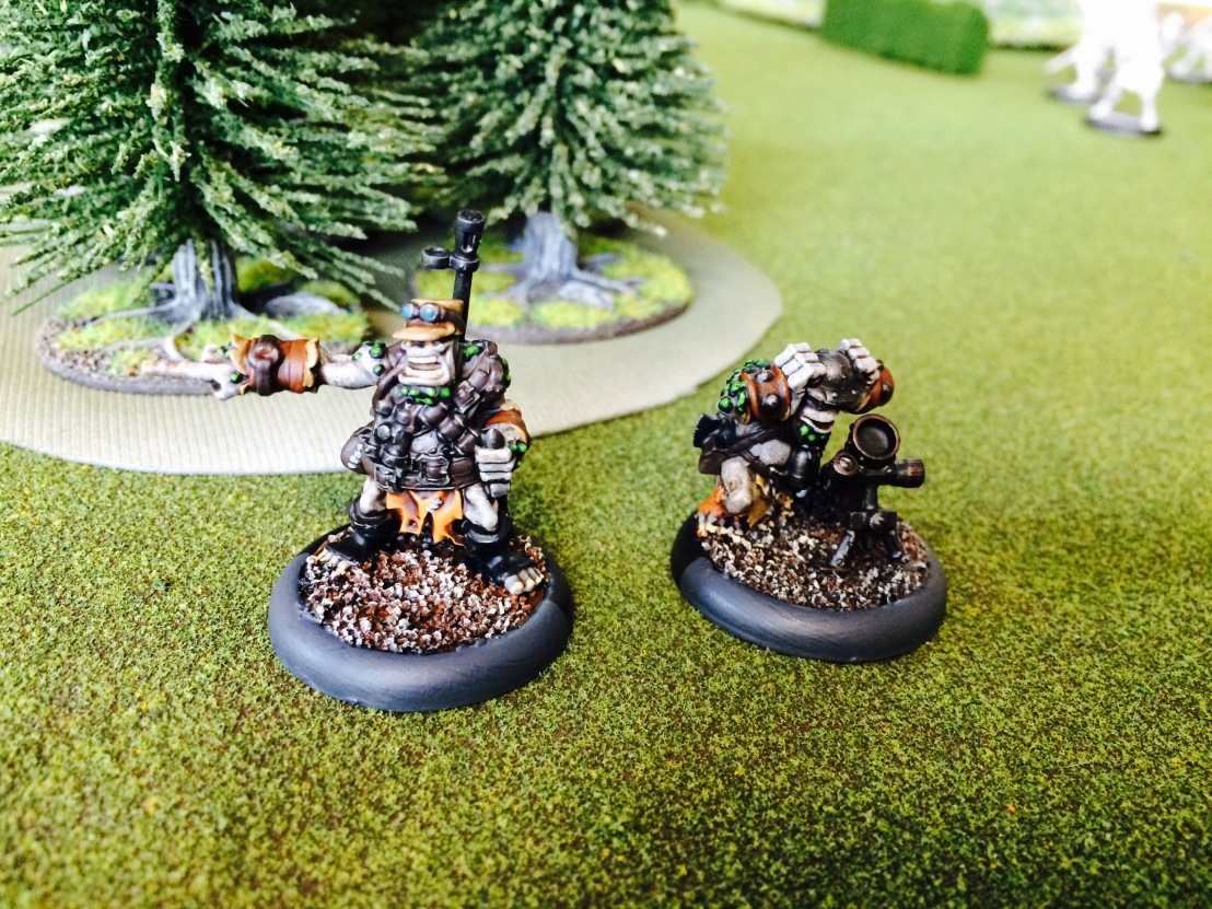 1 Pyg Bushwhacker Officer and Mortar UA Trollbloods