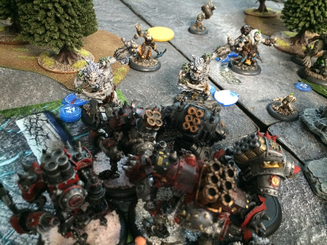 2 Karchev and Warjacks versus Winter Trolls