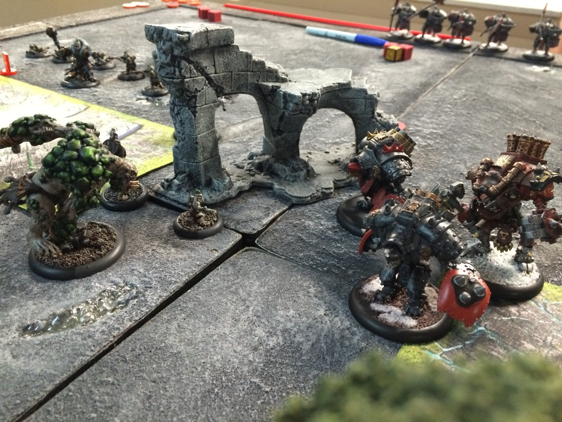 4 Earthborn vs Khador Karchev Kodiak