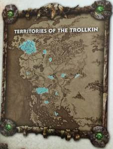Territories of the Trollkin from IK game book