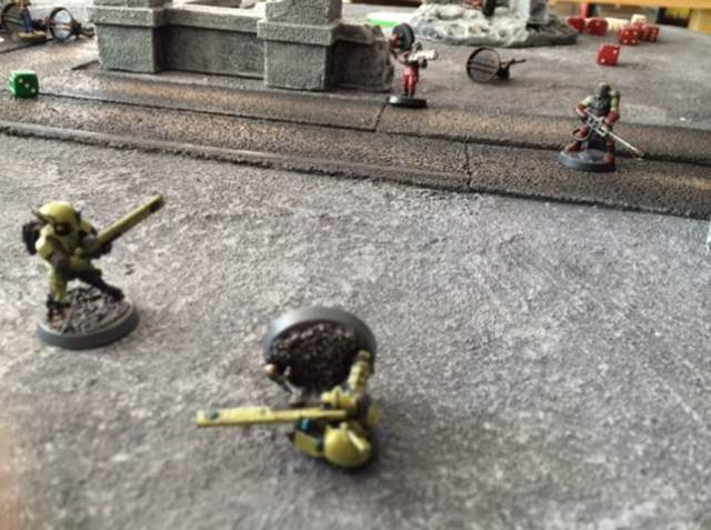 7 Tau vs Khorne Cultists