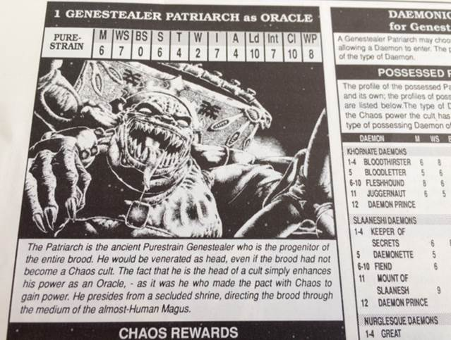 Genestealer Chaos Cult