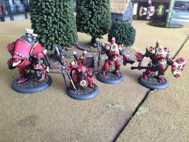 4 Starting Battlegroup Box Protectorate of Menoth Alternate Color Scheme Red