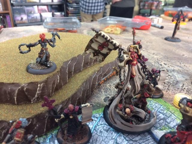 1 Protectorate of Menoth Harbinger vs Retribution of Scyrah