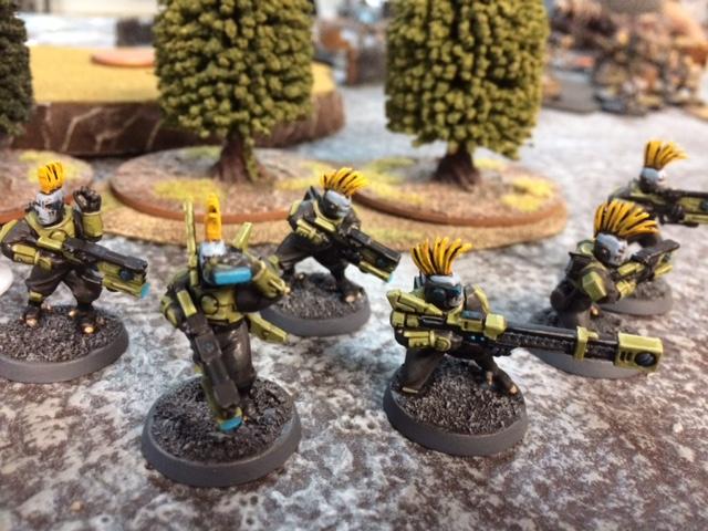 3 Tau Pathfinders Shadow War Armageddon Mohawks Kill Team Necromunda Eschers Goliaths