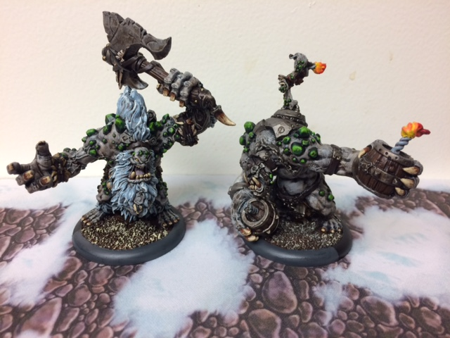 1 Trollbloods Rok and Dire Troll Bomber