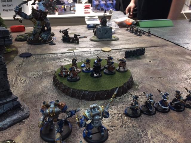 5 Trollbloods Grim2 vs Cygnar Haley1