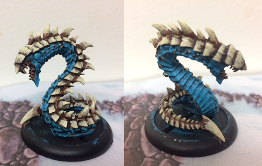 2 Legion of Everblight Naga Nightlurker Blue Bone
