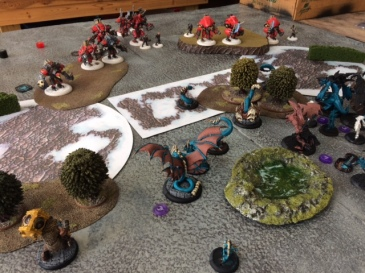 2 Thagrosh2 Legion of Everblight vs Karchev Khador