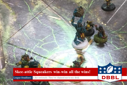 Blood Bowl Skaven vs Dwarfs