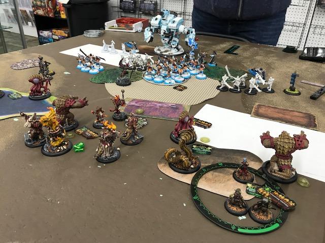 1 Minions Rask vs Khador Irusk2 Doom Reavers