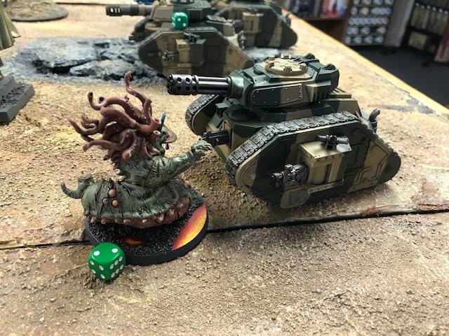 Nurgle Beast of Nurgle Daemon versus Astra Militarum Punisher